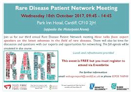 ANNUAL RARE DISEASE PATIENT NETWORK MEETING 2017 cardiff